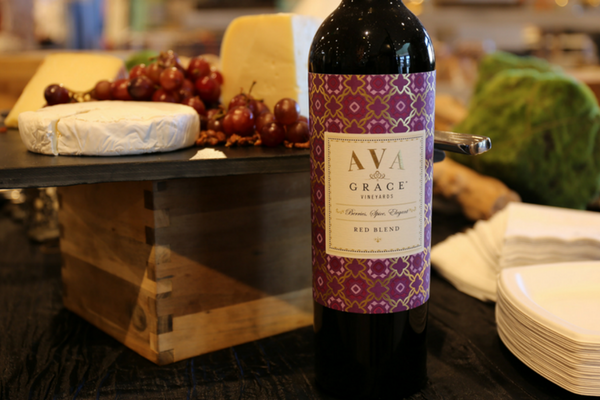 AVA Grace Merlot Served at a Wine Tasting Party